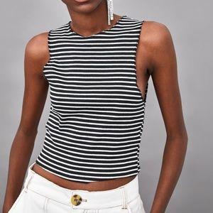 NWT!  Zara Adorable Ribbed Crop Top